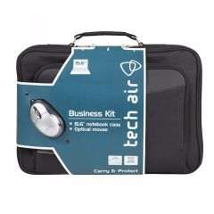 "Techair TABUN29M, 15.6"", Laptop Bag with Mini Optical Mouse"