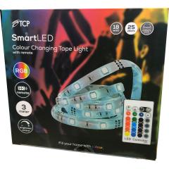 TCP TCPSTRIPNONWIFI, RGB LED Tape Strip Lights, 3 Metres
