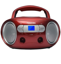 Toshiba TYCRS9R, CD Radio, Red