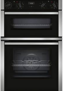 Neff U1ACE5HN0B Built-In Double Oven - Black W/Steel