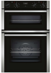 Neff U1ACI5HN0B Built-In Double Oven - Black W/Steel