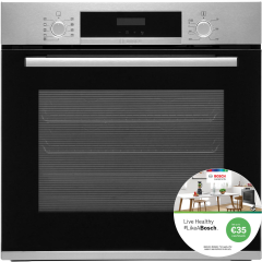 Bosch HBS573BS0B, Multi-Function, Single Oven, Brushed Steel