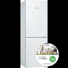 Bosch KGV336WEAG, Serie 4, 176 x 60cm, Freestanding Fridge Freezer, White