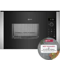 Neff HLAGD53N0B, Microwave Oven, Black/Steel