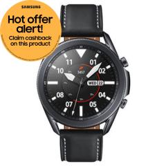 Samsung Galaxy SMR840NZKAEUA, Watch3, 45mm, GPS Smart Watch, Mystic Black