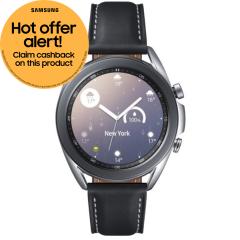 Samsung Galaxy SMR850NZSAEUA, Watch3, 45mm, GPS Smart Watch, Silver