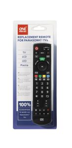 One For All URC1914, Panasonic Replacement, Remote Control, Black