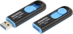 Adata AUV128128GRBE, USB 3.1 128GB Flash Drive, Black/Blue