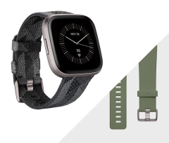 Fitbit 79FB507GYGY, Versa 2 SE, SmartWatch with NFC, Smoke Woven