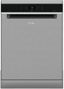 Whirlpool WFC3C24PX, 60cm, 14 Place, Freestanding, Dishwasher, Stainless Steel