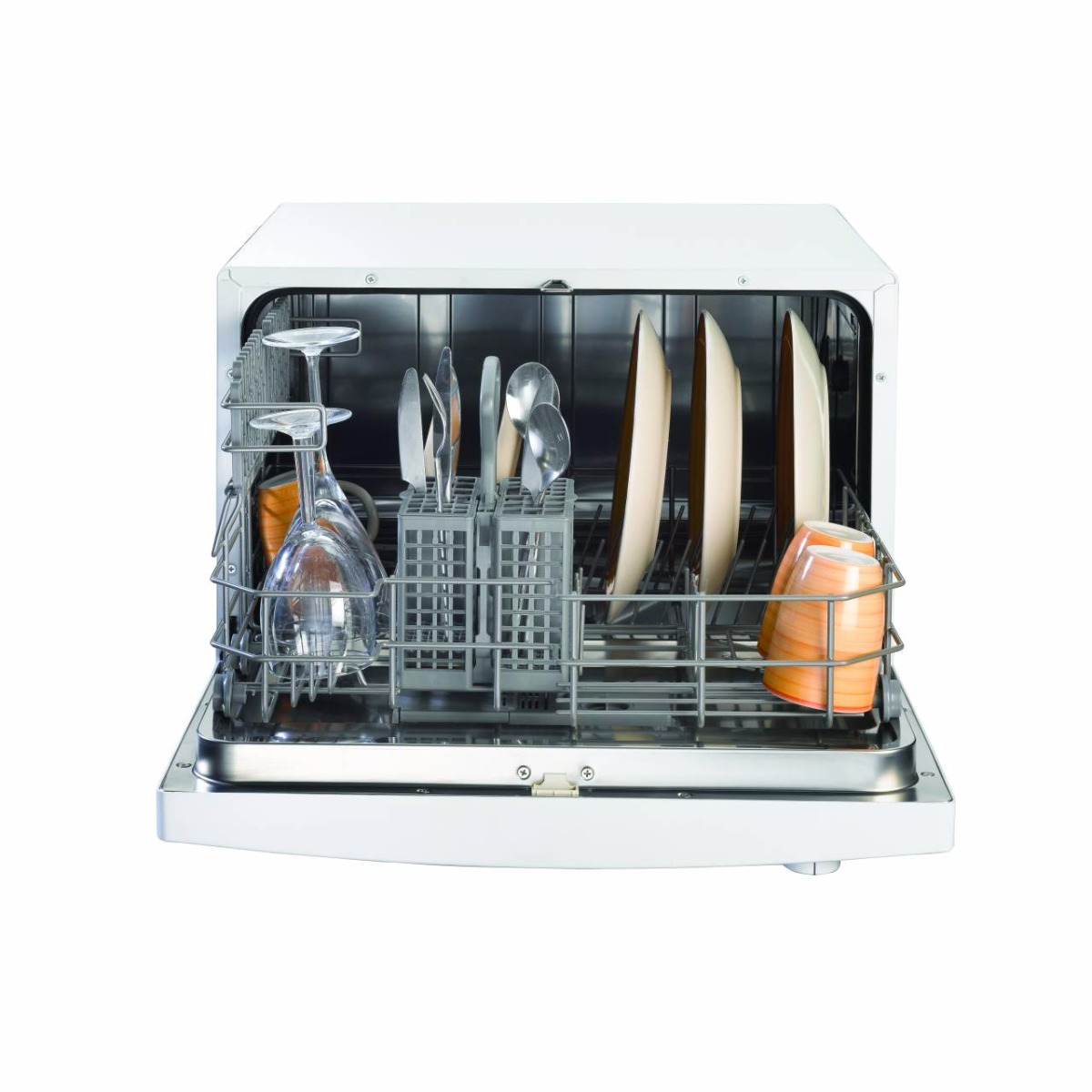 Indesit ICD661UK, 55cm, 6 Place, Table Top Dishwasher, White