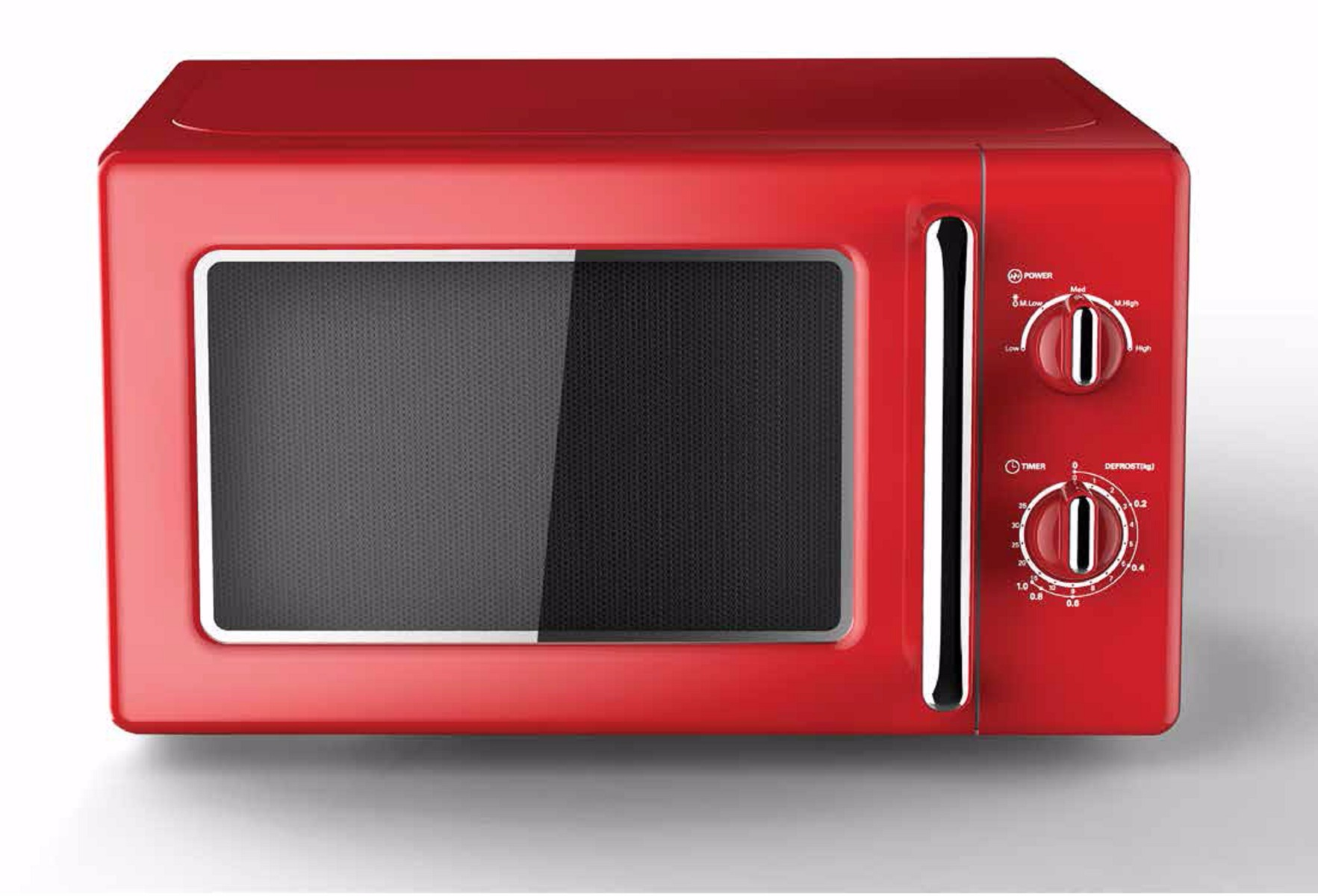 Point P22720mrrd Retro Microwave Red