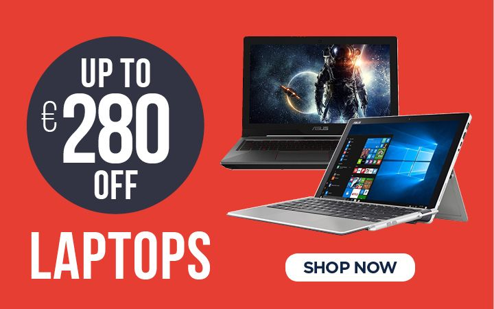 Up to €280 OFF Laptops